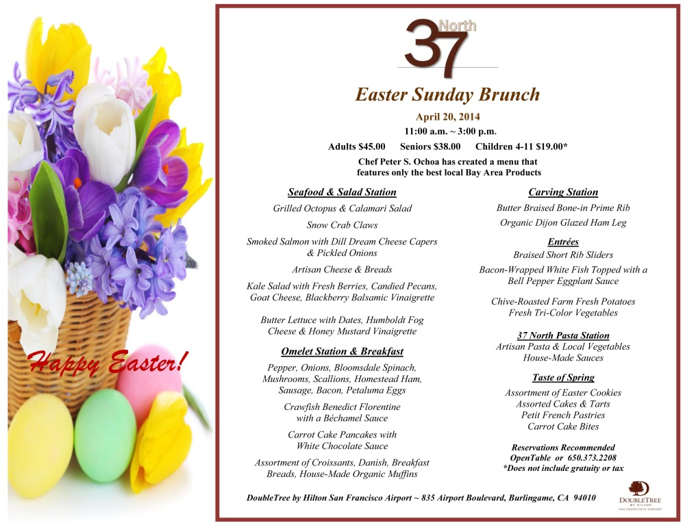 Easter Sunday Brunch 2014    2 13 14